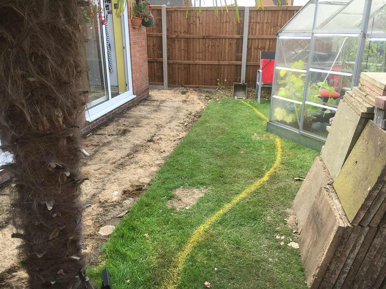 Builders and garden construction